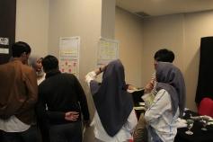 Brainstorming antar Tim Bisnis di Canvas