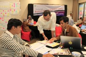Diskusi Strategic dengan Ide Baru dan Post-It